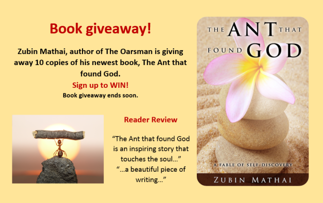 Book giveaway for The Ant that Found God