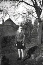My mother, Lilly, 1945, behind her is the bunker